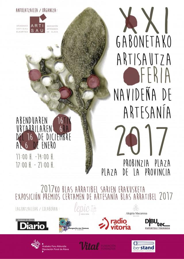 cartel DIN3 feria de navidad 2017